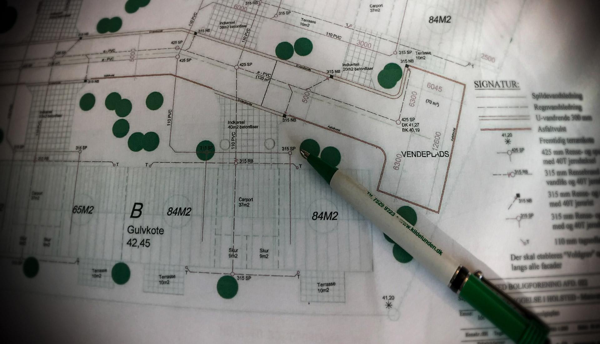 Havekonsulenten tegner haver, anlæg og grønneområder